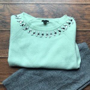 Ann Taylor Pastel Mint Sweater